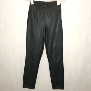 PAIGE Leather and Ponte Knit Paloma Leggings S